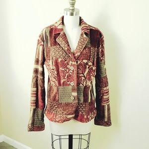 ELCC // Boho Vintage Brocade Patchwork Blazer Coat